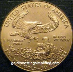 American Gold Eagle - Reverse View