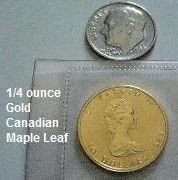 Quarter Ounce Gold Canadian Maple Leaf