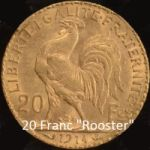 20 Franc Gold Rooster